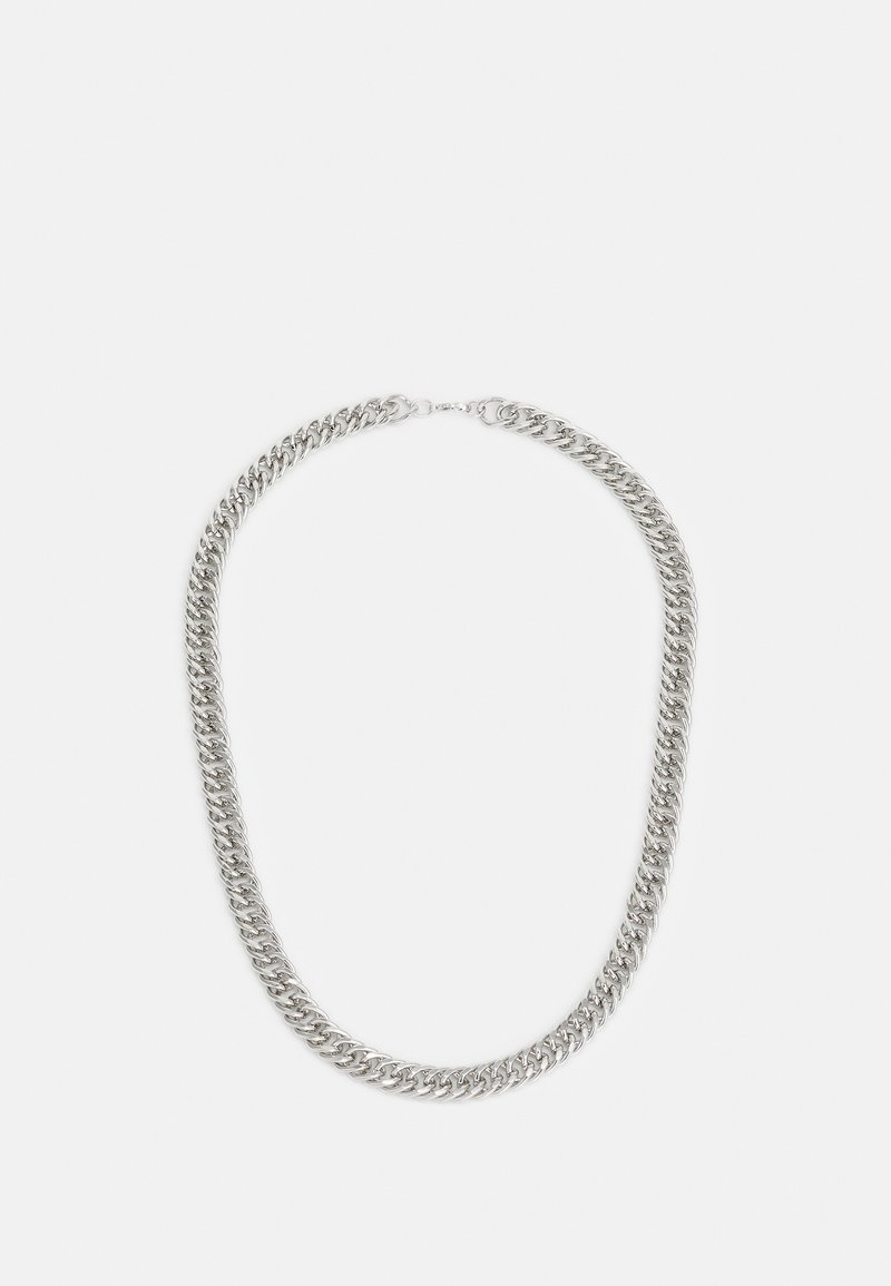 Topman - FLAT CHAIN NECKLACE - Collana - silver-coloured