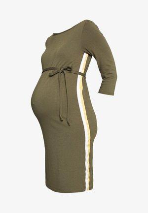MLTINE BLACKIE DRESS - Žerzejové šaty - dusty olive/snow white