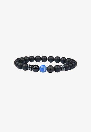 Bracciale - schwarz+blau marmor