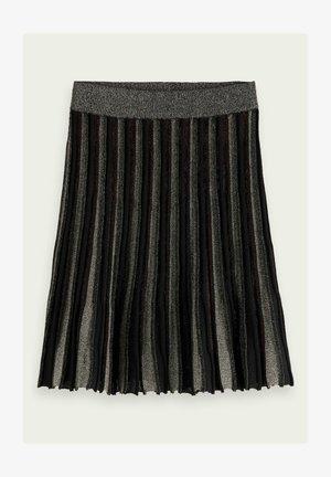 Pleated skirt - black glitter