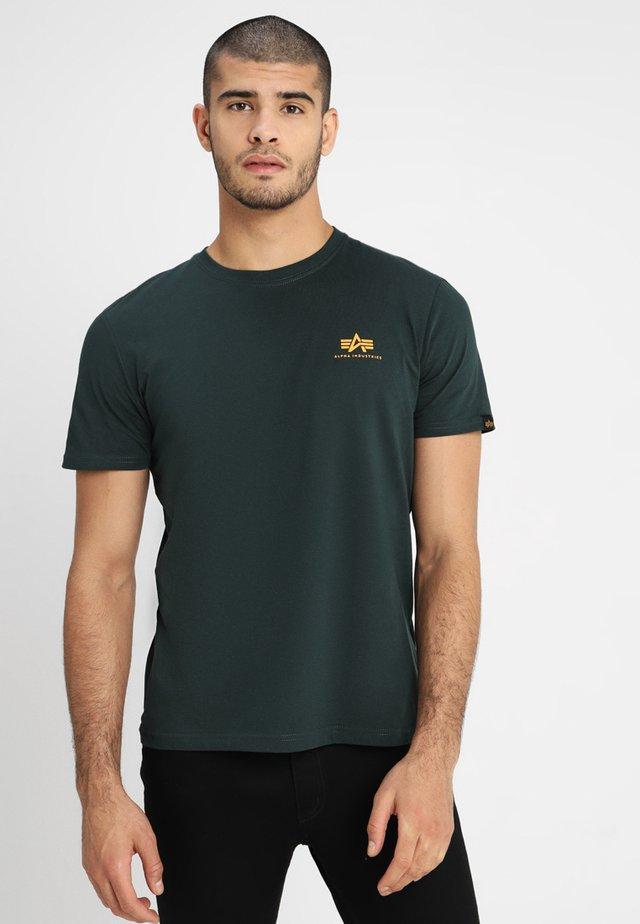 Print T-shirt - dark petrol