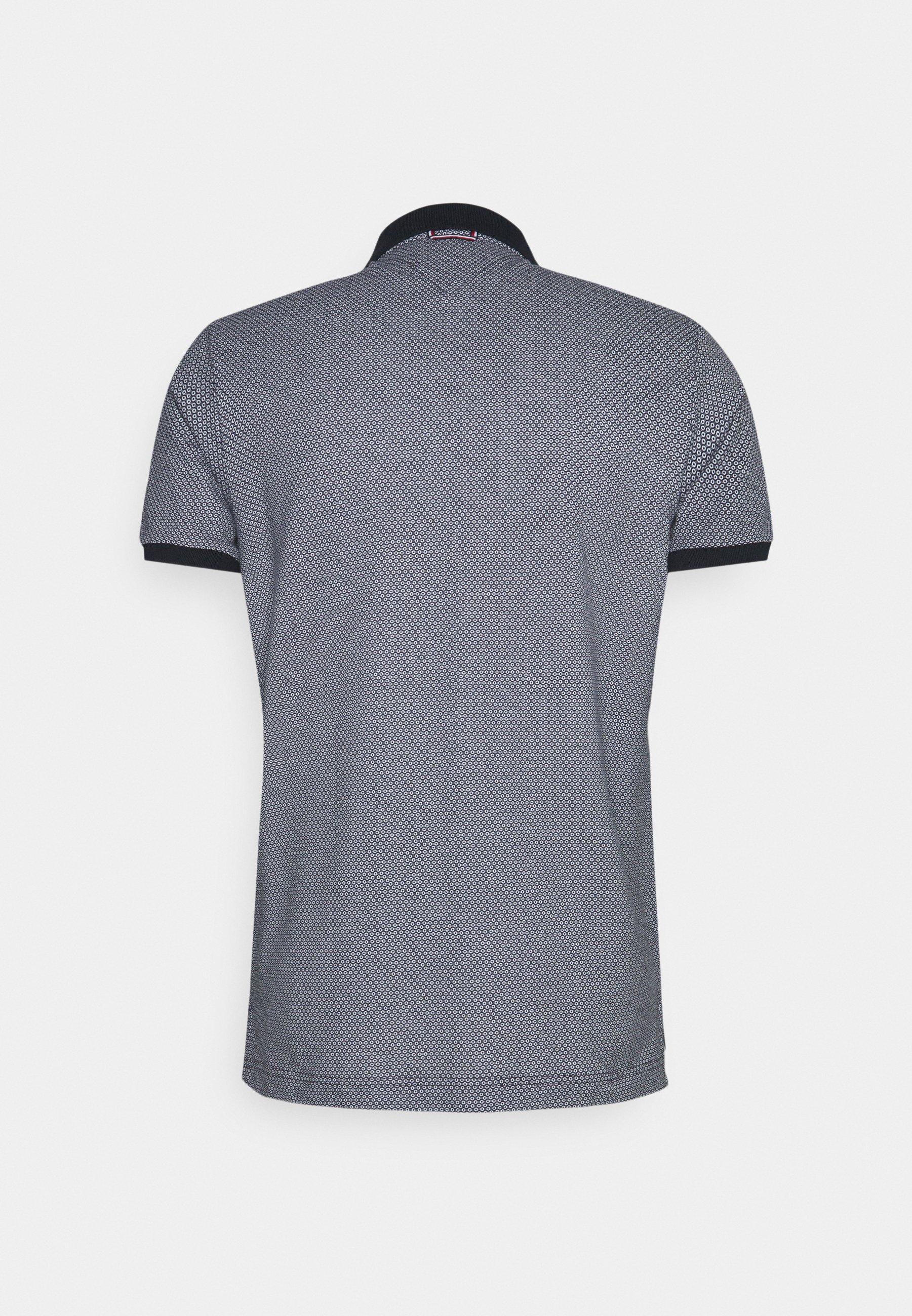 Men MICRO PRINT SLIM - Polo shirt