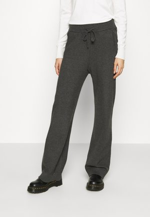VIRIL STRAIGHT PANTS - Tracksuit bottoms - dark grey melange