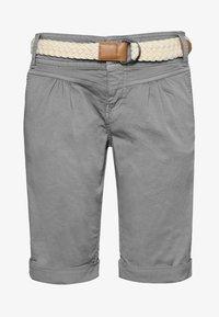 CHINO BERMUDA MIT GÜRTEL - Shorts - light-grey