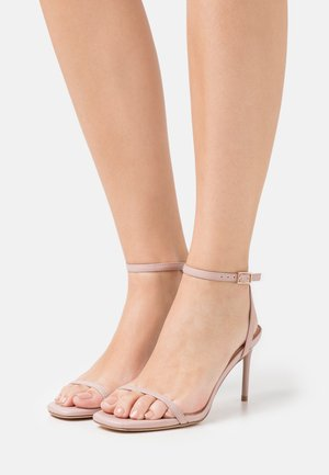High heeled sandals - light pink