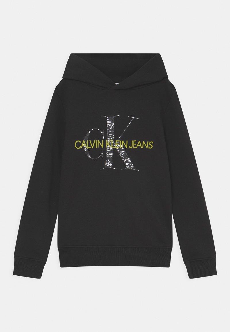Calvin Klein Jeans - MONOGRAM NOISE HOODIE - Sweatshirt - black