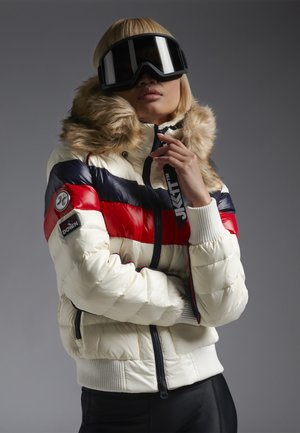 Down jacket - snow tricolore
