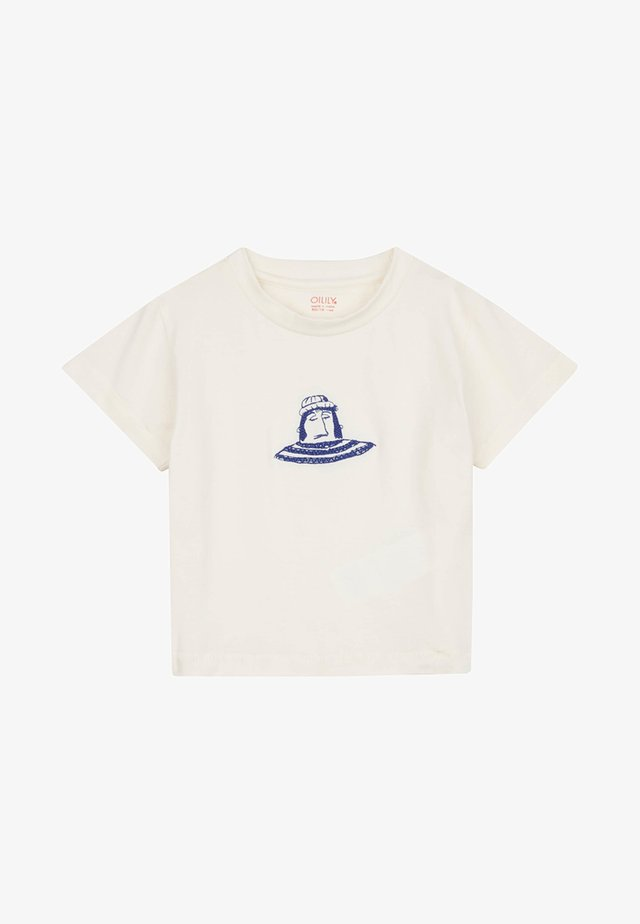MET URKER VISSERS PRINT - T-shirt print - white