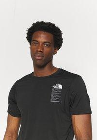 The North Face - GLACIER TEE - Camiseta estampada - tnf black - 3