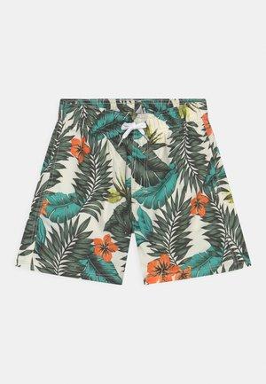 TROPICAL LEAVES - Swimming shorts - dark khaki