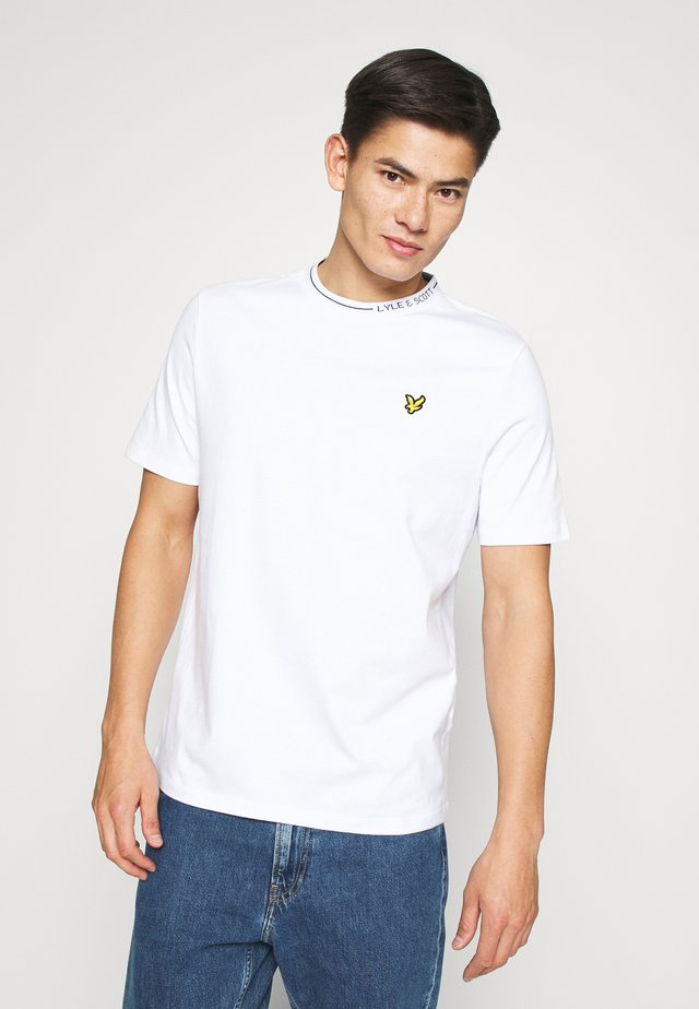 BRANDED RINGER - T-shirt - bas - white