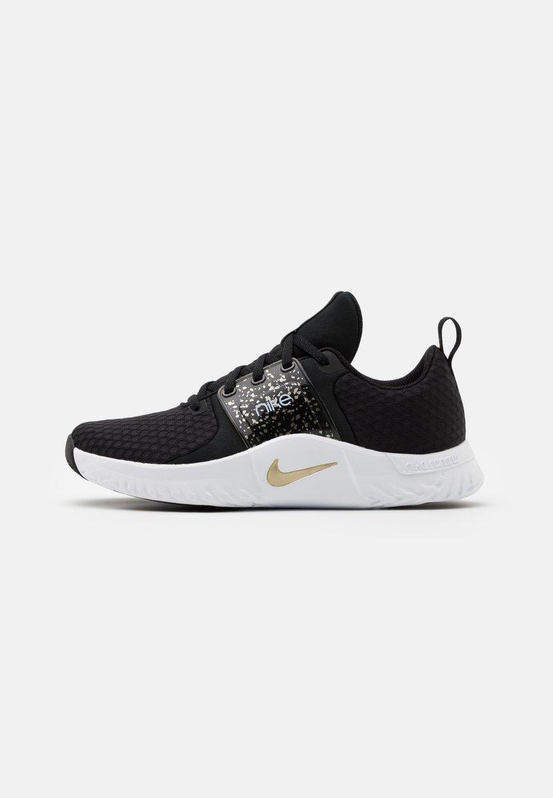 Nike Performance - RENEW IN SEASON TR 10 PRM - Obuwie treningowe - black/metallic gold grain/white