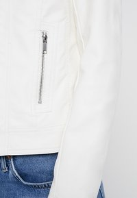 b.young - ACOM JACKET - Faux leather jacket - off white - 4