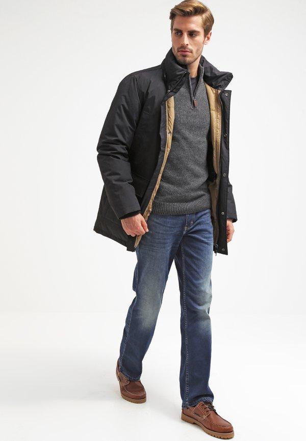 Pier One Sweter - dark grey melange/antracytowy Odzież Męska BHCQ