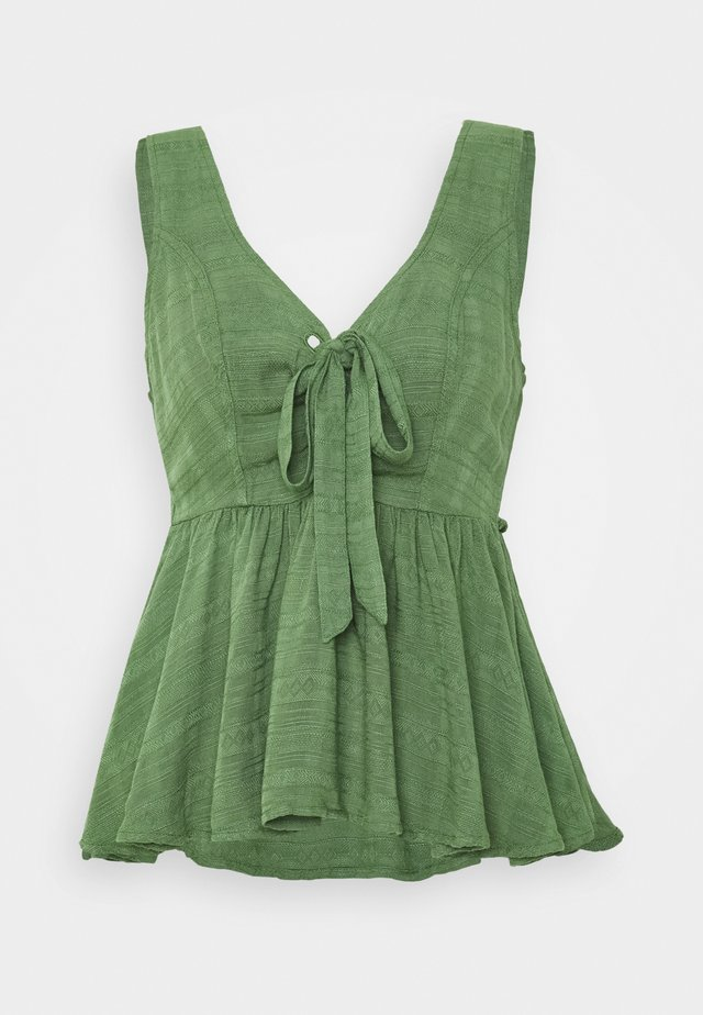 SCOOP NECK - Bluse - olive