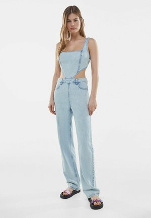 MIT CUT-OUTS  - Jumpsuit - light blue