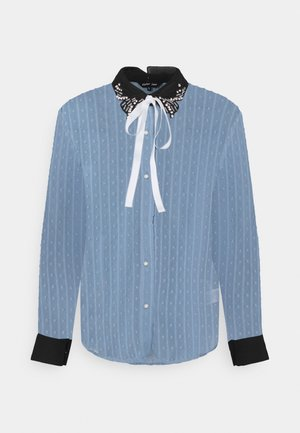 ALL THE CRAZE BOW - Blouse - blue