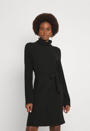 VIELITA HIGH NECK DRESS - Gebreide jurk - black