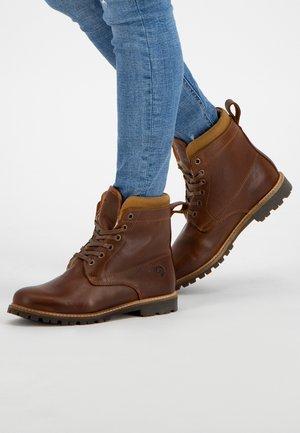ESBJERG - Lace-up ankle boots - cognac