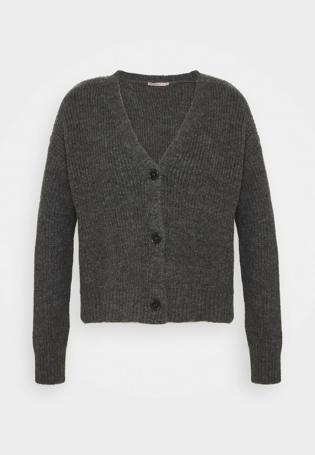SOFT CARDIGAN - Strickjacke - mottled grey