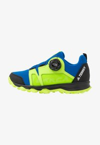 glow blue/footwear white/signal green