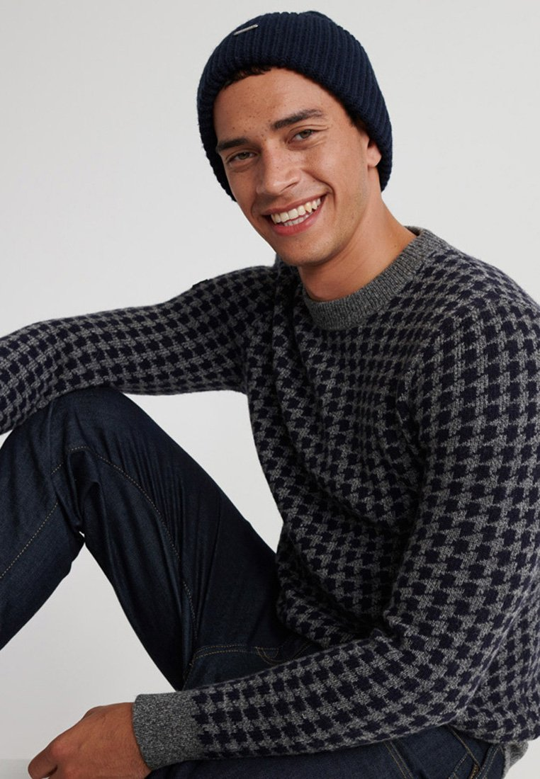 Superdry ACADEMY  - Pullover - graphite houndstooth