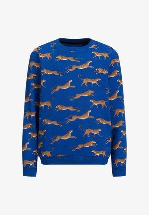 MET LUIPAARDPRINT - Sweatshirt - cobalt blue
