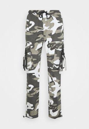 CAMO STRAP PANTS - Cargo trousers - black