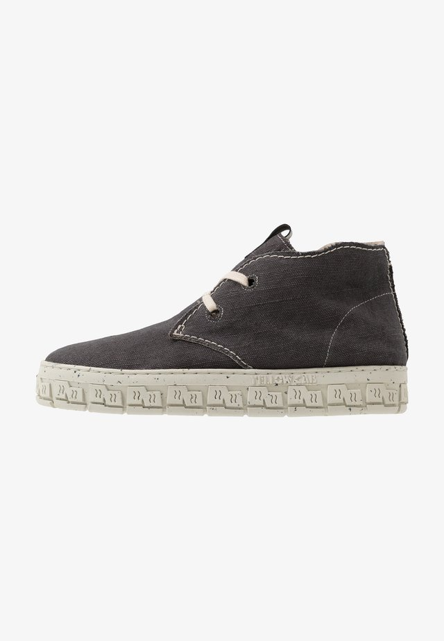 CHECK - Casual lace-ups - black