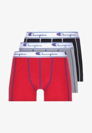 BOXER 3 PACK - Pants - black/grey/red