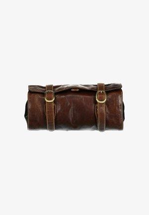 Wash bag - dark-brown plain