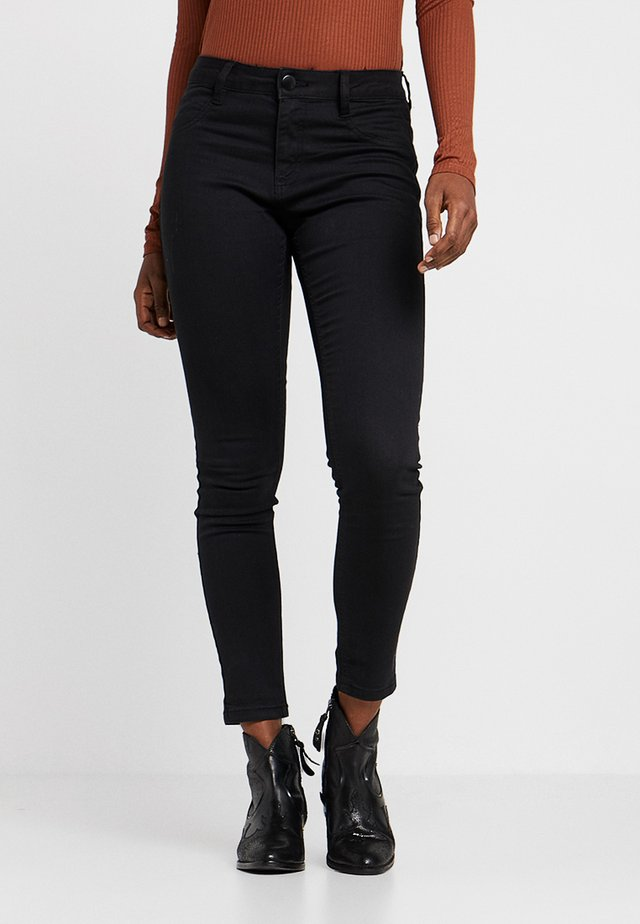 MID RISE - Jeansy Skinny Fit - black