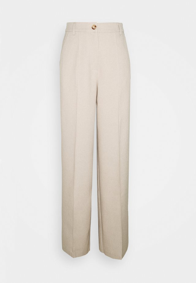 WIDE SUIT PANTS - Kangashousut - beige