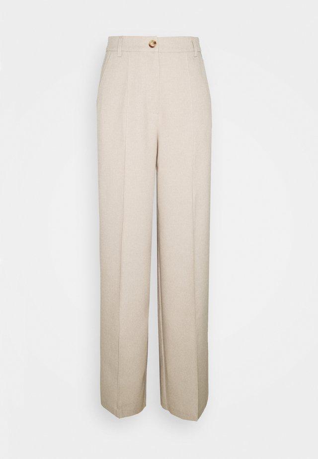 WIDE SUIT PANTS - Broek - beige