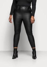 Simply Be - HIGH WAIST SHAPER - Slim fit jeans - black - 0
