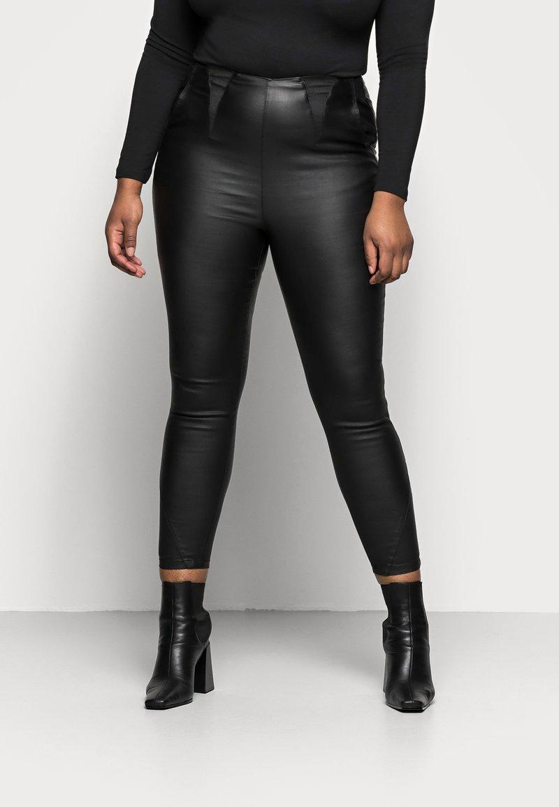 Simply Be - HIGH WAIST SHAPER - Slim fit jeans - black
