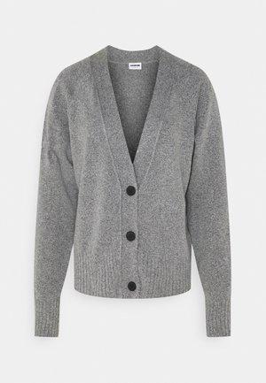 NMIAN CARDIGAN TALL - Cardigan - medium grey melange