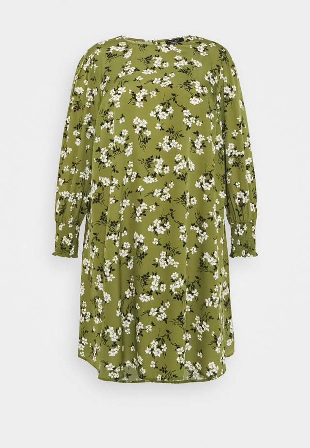 AMELIE FLORAL SMOCK - Day dress - green