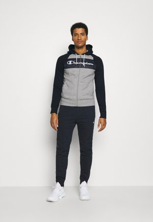 HOODED FULL ZIP SUIT - Tracksuit - grey/navy