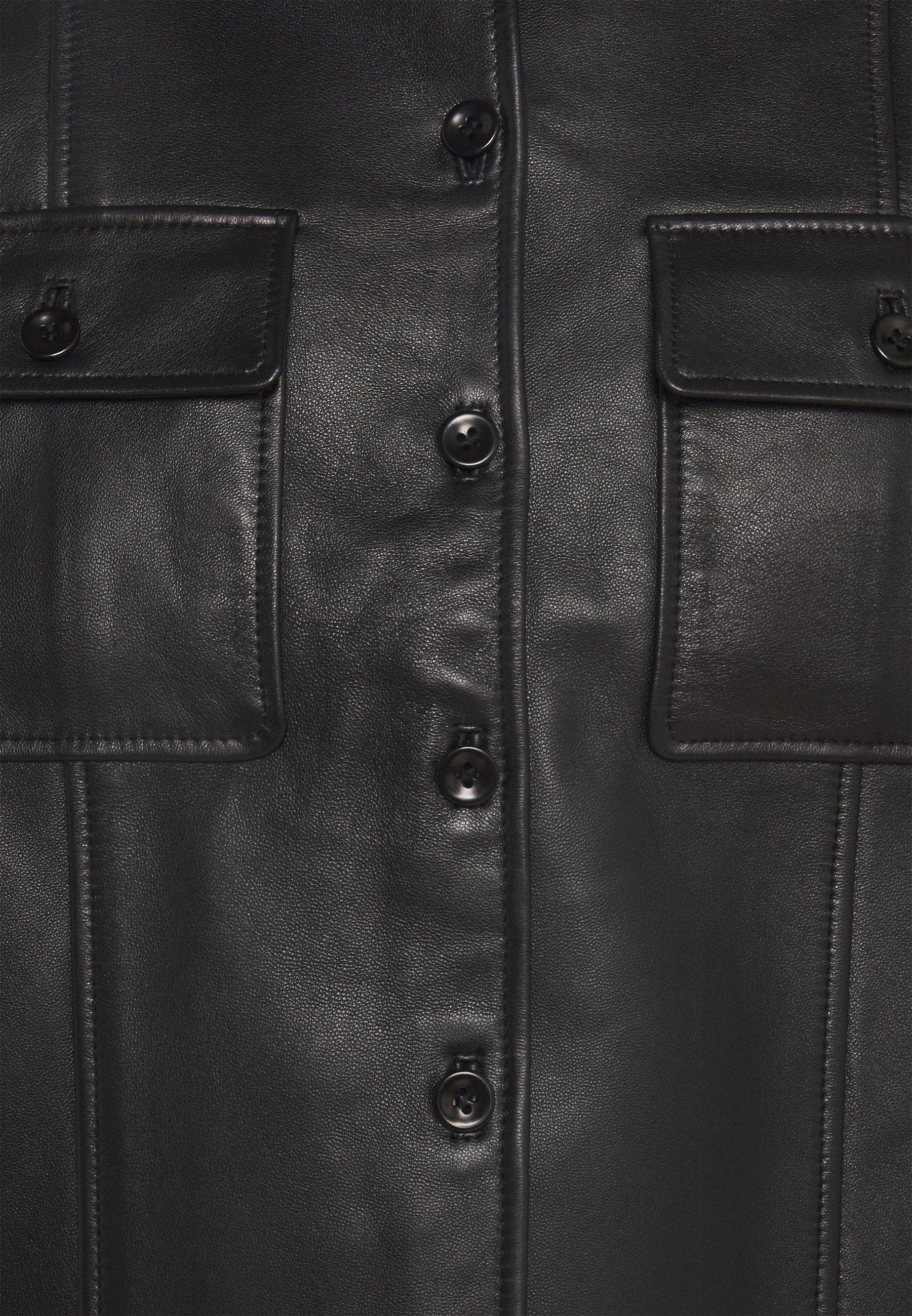 Proenza Schouler LIGHTWEIGHT COLLARED JACKET Lederjacke black/schwarz