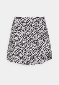 Abercrombie & Fitch - CINCH DETAIL SKIRT - A-line skirt - navy - 4