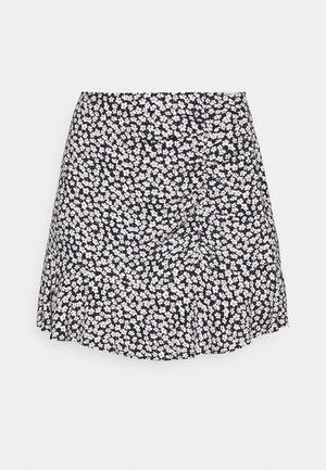 CINCH DETAIL SKIRT - A-line skirt - navy
