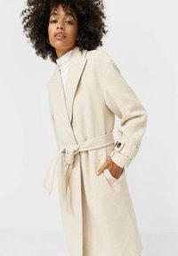 Stradivarius - Classic coat - white - 3