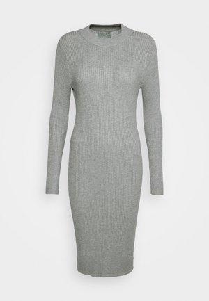 Gebreide jurk - mottled light grey