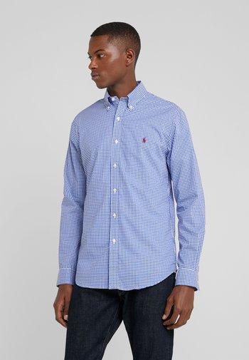 SLIM FIT - Shirt - royal/white