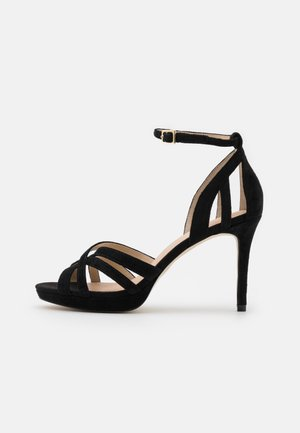 LEATHER - High heeled sandals - black