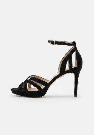LEATHER - Sandály na vysokém podpatku - black