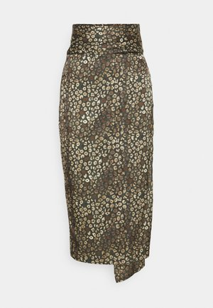 LEOPARD JASPRE SKIRT - Pencil skirt - khaki