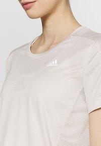 adidas Performance - OWN THE RUN TEE - Camiseta estampada - alumin - 4