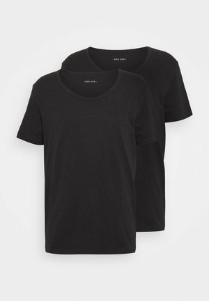 2 PACK  - T-shirt - bas - anthracite/black